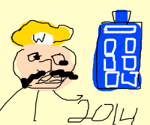Wario travels time. He is in 2014 !