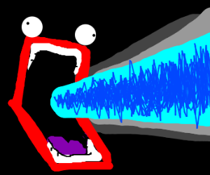 Angry mouth shoots electricity
