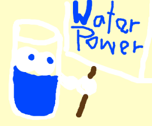 empowerment of the glass of water