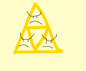 three angry triangles