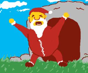 santa wakes up from hibernation