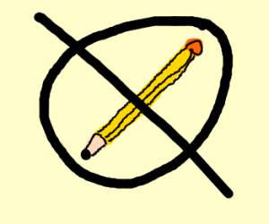 No Pencils Allowed