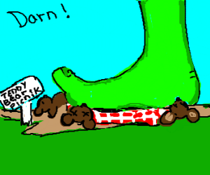 Jolly Green Giant ruins the Teddy Bear Picnic.