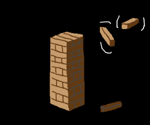 Friendly ghost reconstructs Jenga tower