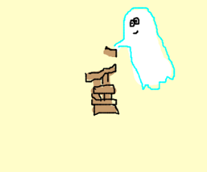 Jenga against a ghost
