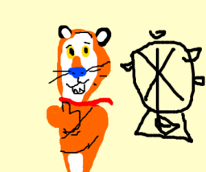 Tony the Tiger. Frosted Flakes Land themepark.