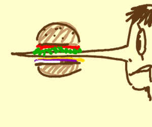 pinocchio's nose is too long for burger