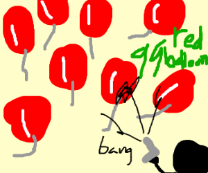 99 red balloons go down