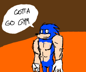 Sonic the Hedgehog on steroids!