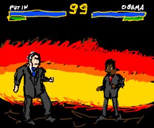 Putin challenges Obama for Mortal Kombat