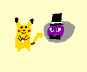 pikachu and gastly finally get married!