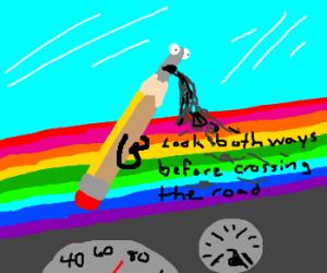 GraphiteSpews words of wisdom onto RainbowDash