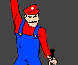 Mario preforms in a queen tribute band