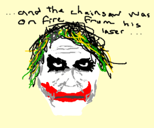 Joker's story about his scars gets ridiculous