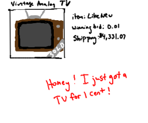 Old TV finally gets bought on EBay