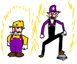 Super Wario Bros powering up