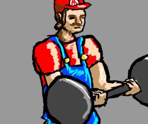 Mario weightlifting