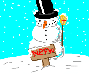 Frosty the censored snowman was a jolly happy