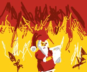Santa makes a status report. Things look bad.