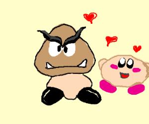 Goomba & Kirby in love