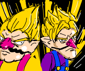 Wario and Waluigi go super saiyan