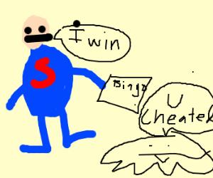 Superman wins Bingo. Did he cheat?