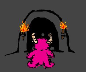 brave pink monster