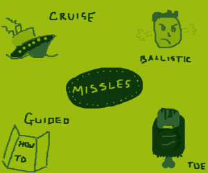 The types of missles.