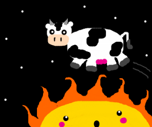 Cow jumping over the sun. WHAT A TWIST!