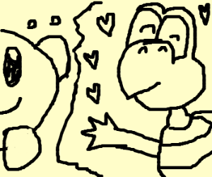 Kirby in love with a koopa