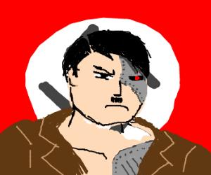 Muscular cyborg Hitler.