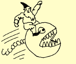 Heroic gnome riding Chomp Chomp