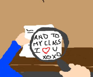 a zoomed in class love letter