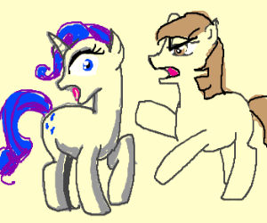 Pony with no cutie mark attacks Rarity