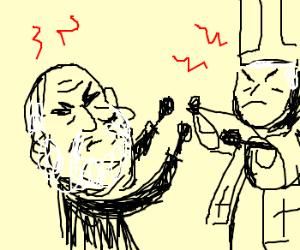 Darwin fighting the Pope.
