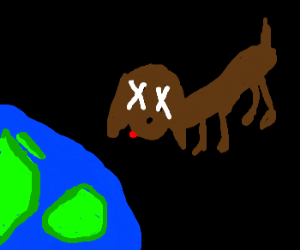 a dead dog in SPACE!!!!1111