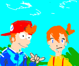 Redhead characters, including Fry and Misty.