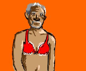 Morgan freeman in a bra