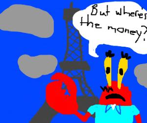 Mr Krabs in Paris