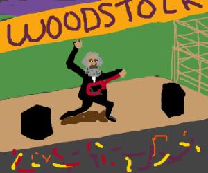 Karl Marx performs at Woodstock