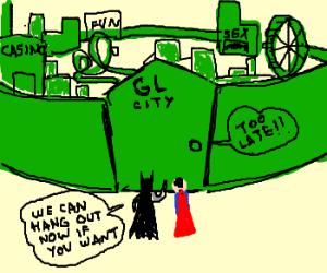 Lonely Green Lantern creates a city