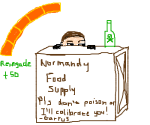 evil Shepard poisons Normandy's food supply