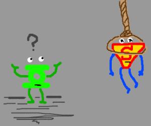 Green Lantern ignored hanged Superman