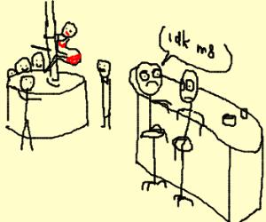 two kids at the wrong bar