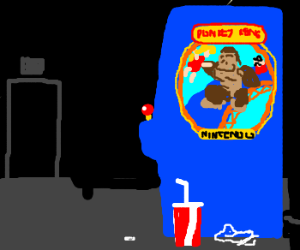 Donkey Kong (1981), as seen from side.