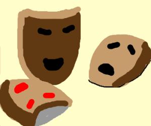 three aborigen masks