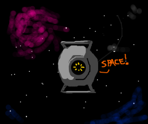 Space Core (Portal 2) in Space