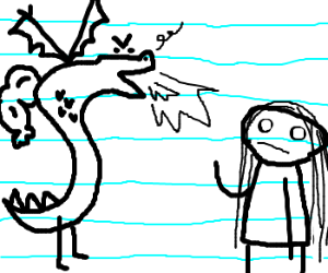 TROGDOR fights whats-her-face