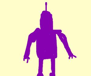 A purple robot