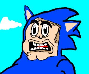 I'm not Sonic, I'm my oc Blonic!